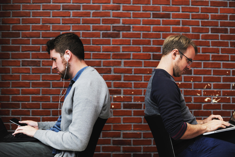2 dudes not talking