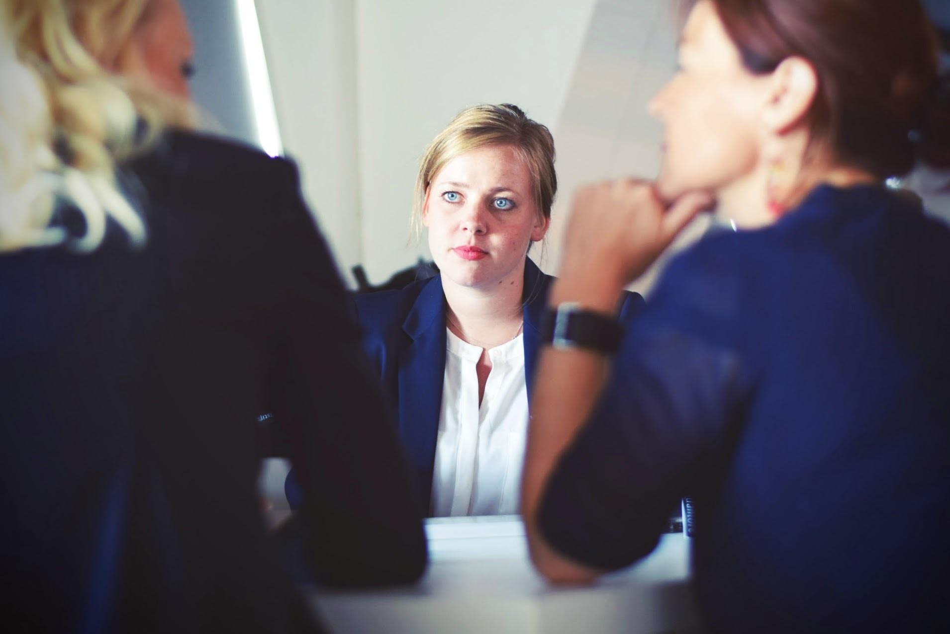 3 women in an office