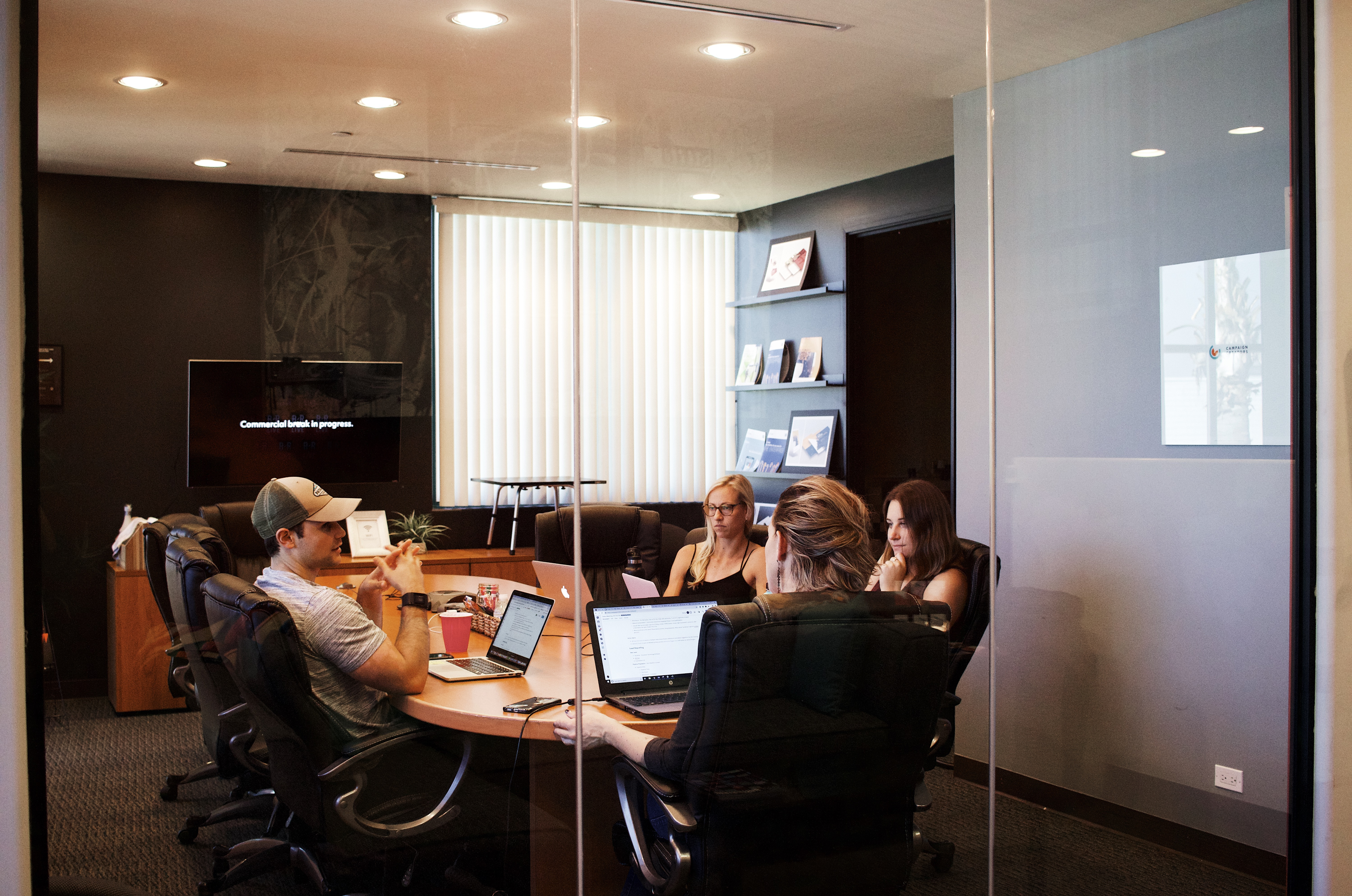 workers in a conference room