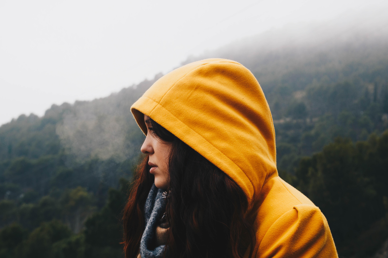 yellow hooded girl